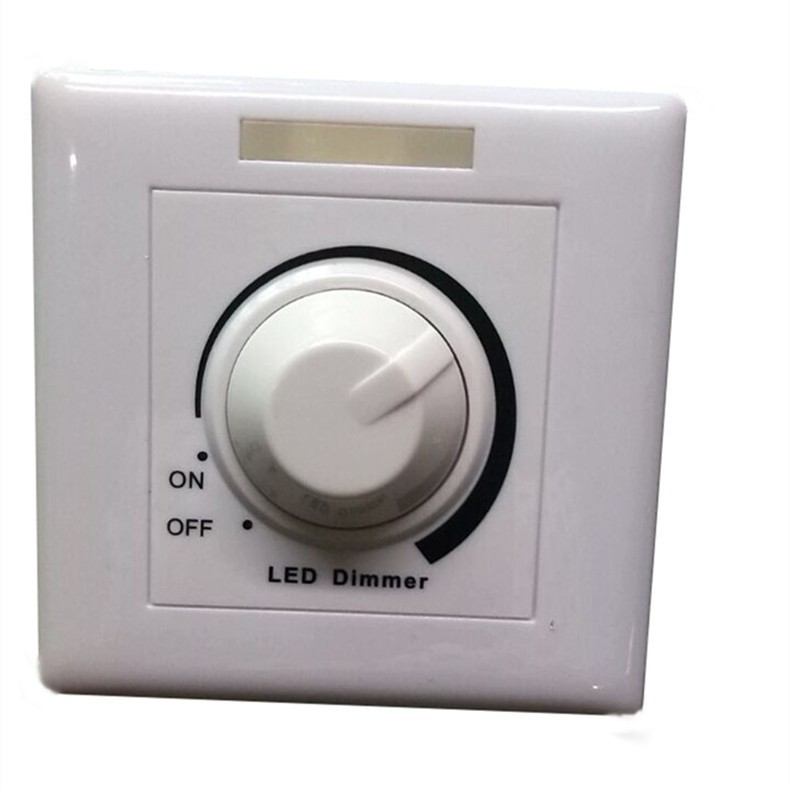 Free Shipping New 220V Adjustable Controller LED Dimmer Switch For Dimmable Light Bulb Lamp(China (Mainland))