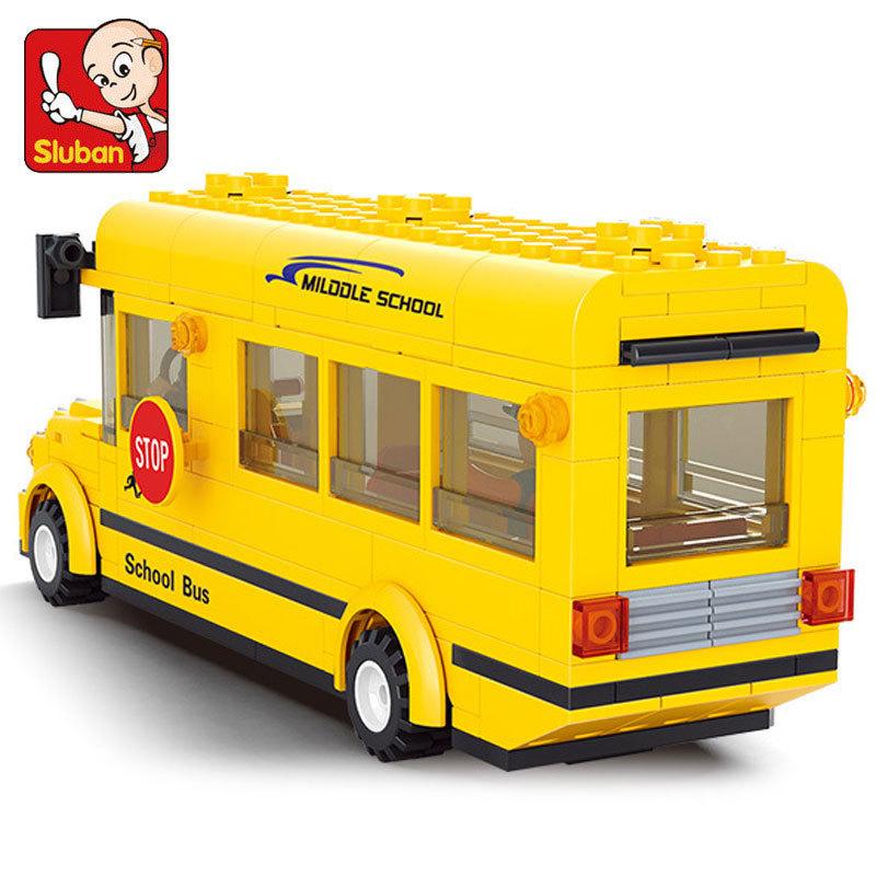 New Sluban City Bus Plastic Building Blocks 235pcs/set DIY Enlighten Model car Kits Building Bricks toys(China (Mainland))