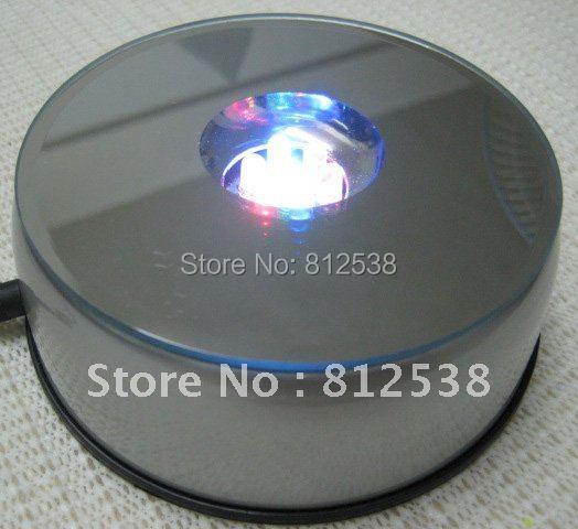 small LED revolving table display turntable with LED lights colorful led lights display stand(China (Mainland))