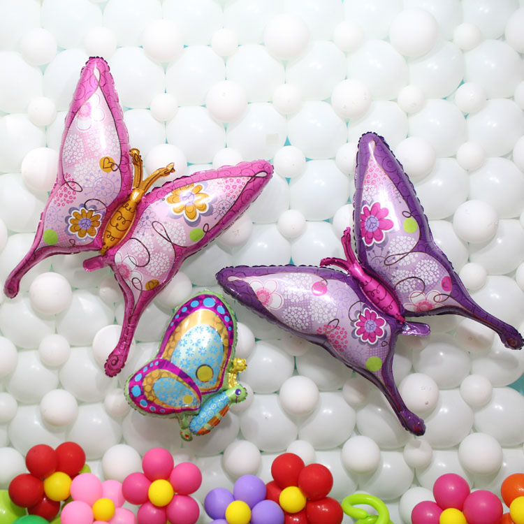 Large 39inch butterfly foil balloons pink/purple helium balloons happy birthday party supplies wedding party decoration balls(China (Mainland))
