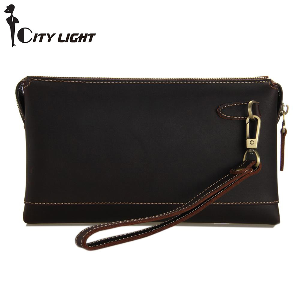 Men's Clutch multi-function Genuine leather Wallet man Clutch Cell phone bag Men Leather Handbag Large Capacity freeshipping(China (Mainland))