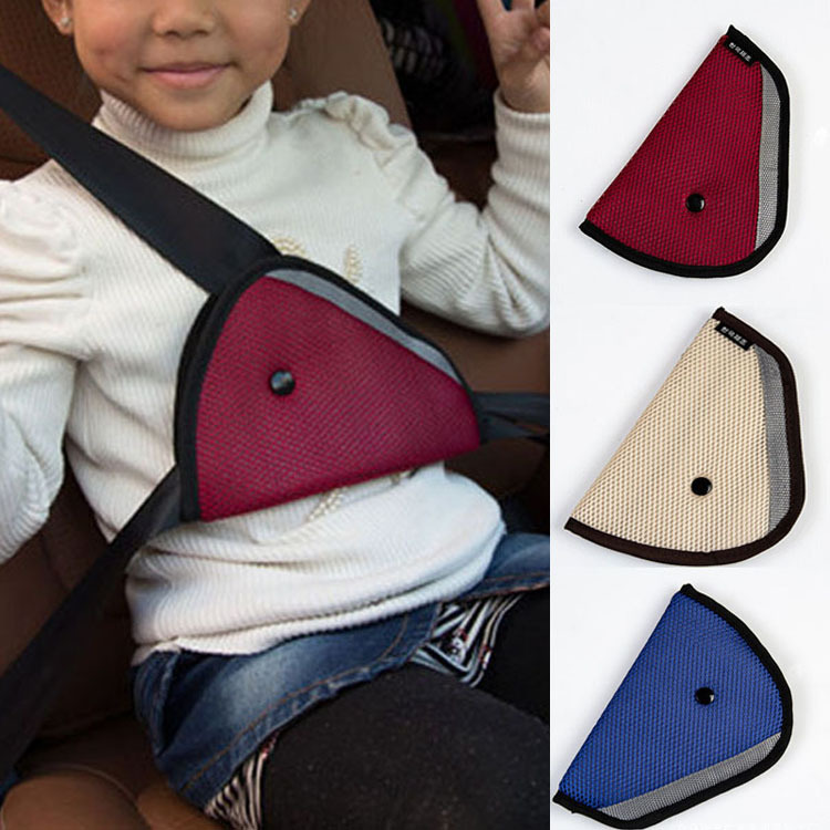 3 Colors High Quality Car Accessories Comfortable Child Car Seat Belt Holder Triangle Drop Shipping CAR-0175(China (Mainland))