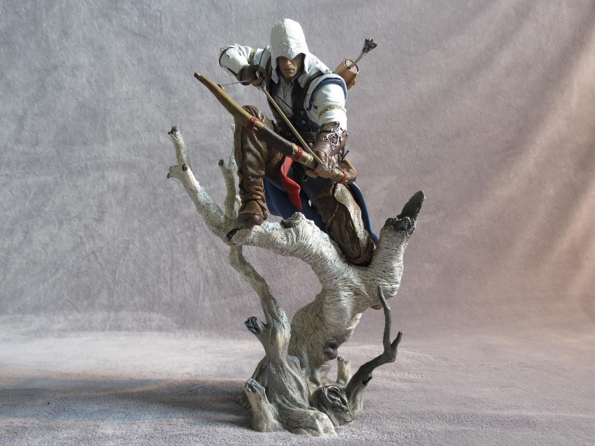 J.G Chen 2015New Assassin's Creed 3 Connor Assassins Creed PVC Action Figure Collectible Model Toy 26cm