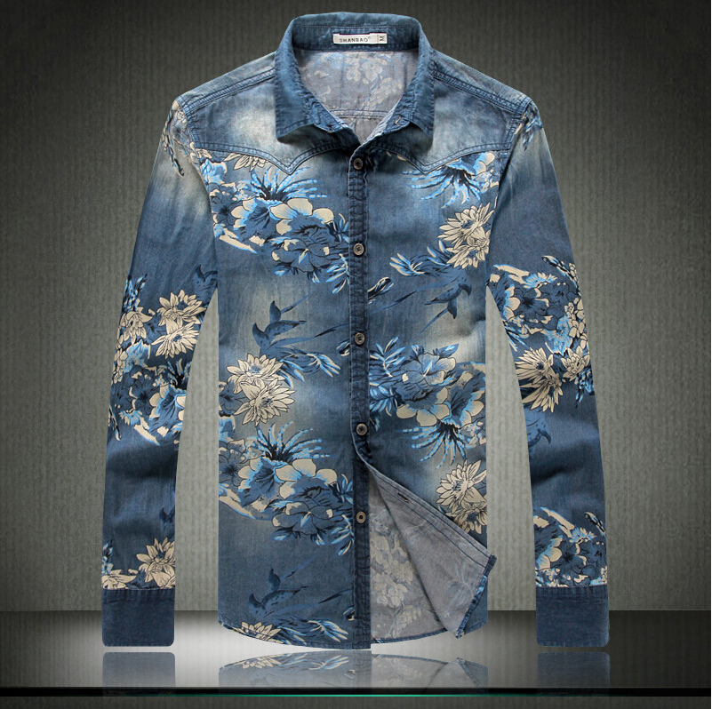 Popular Men Dress Flower Shirts-Buy Cheap Men Dress Flower Shirts ...