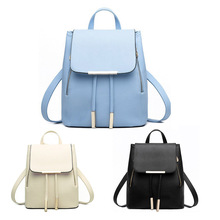 Fashion Genuine PU Leather Women Backpacks Schoolbags for Teenager Girls Preppy Style Women Travel Backpack Bolsa Feminina
