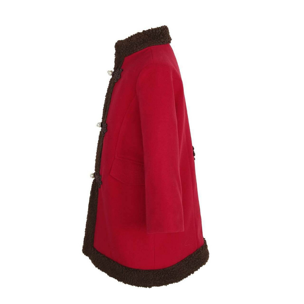 Скидки на Девушки Шерсть Детские Зимние Пальто Шерстяное Пальто Девушки Красный Одежда Устанавливает Малышей Девушки С Длинным Рукавом Верхняя Одежда