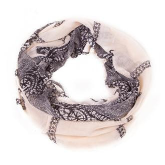 women scarf Lace Loop Infinity Scarf 2015 good quality ring scarves big size 110*180cm girls pink neckwear free shipping(China (Mainland))