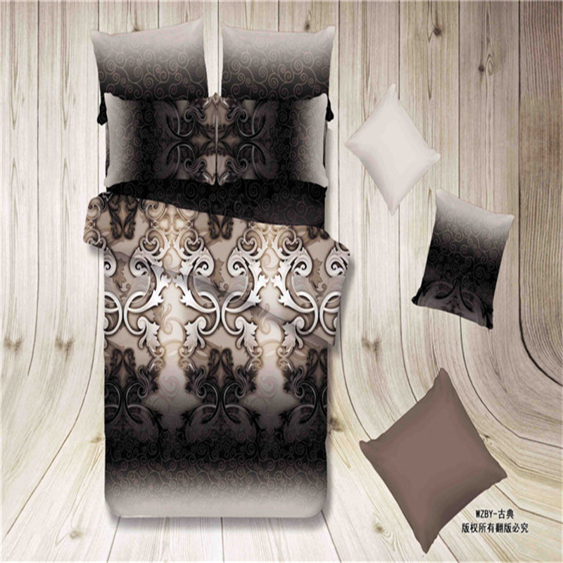 Buy housse de couette marque flower oil painting designer bedding sets queen - Dimension lit queen size ...