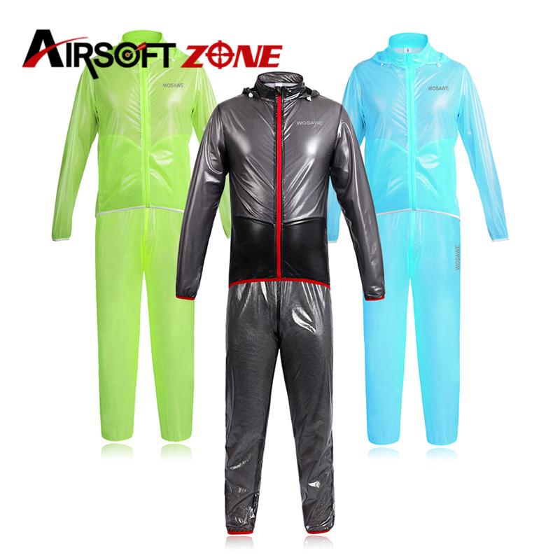 Outdoor Sports Waterproof Windproof Rain Coat Cycling Bike Bicycle Running Jacket WindCoat Jersey and Hiking Pants Set Clothing