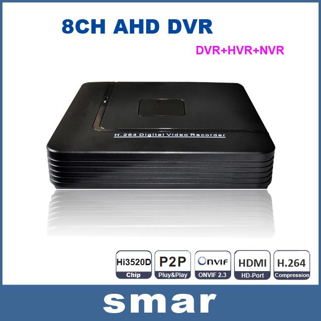 "Home Security Mini CCTV DVR 8 Channel Video Recorder Full D1 Onvif P2P Cloud HD 1080P Output 8CH AHD Hybrid DVR System 3.5""HDD(China (Mainland))"
