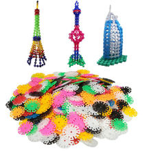 400PCs New Arrival Multicolor Kids Snowflake Building Puzzle Blocks Educational Xmas Toys Bricks DIY Assembling Classic Toy(China (Mainland))