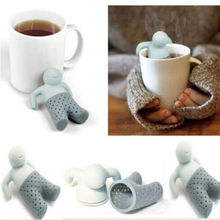Hot sales 2015 Teapot Cute Mr Tea Infuser Tea Strainer Coffee Tea Sets Silicone mr tea