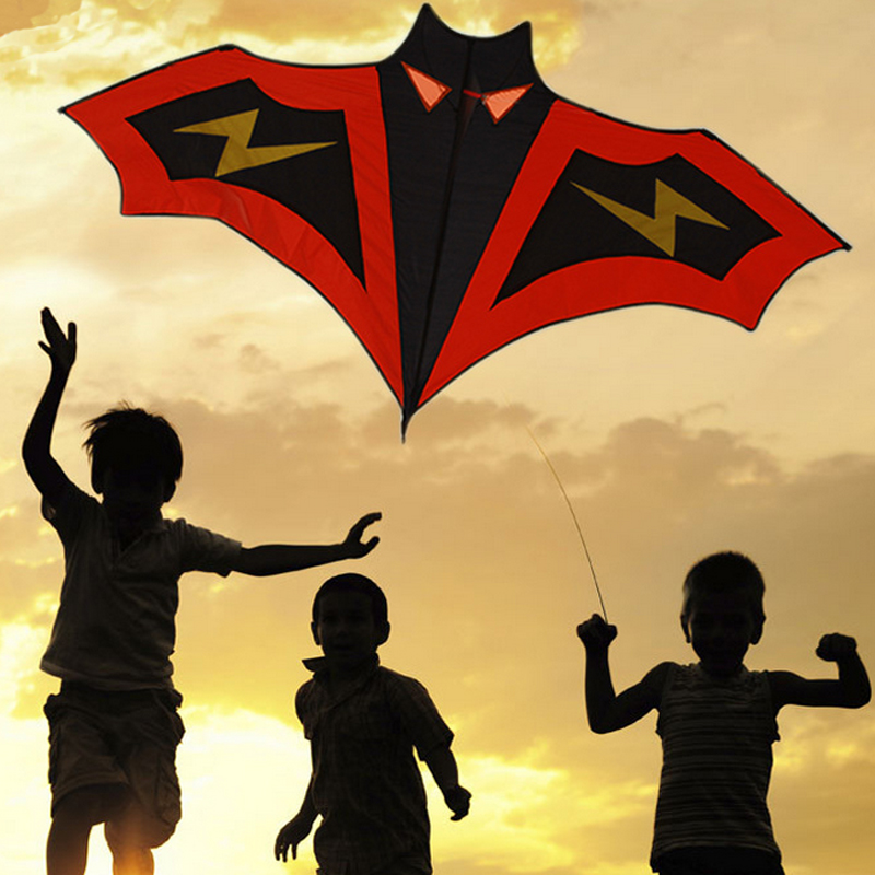 High Quality Diy Kite Lightning bats without Handle Line Outdoor Toys Flying Fly a Kite nylon ripstop fabric(China (Mainland))
