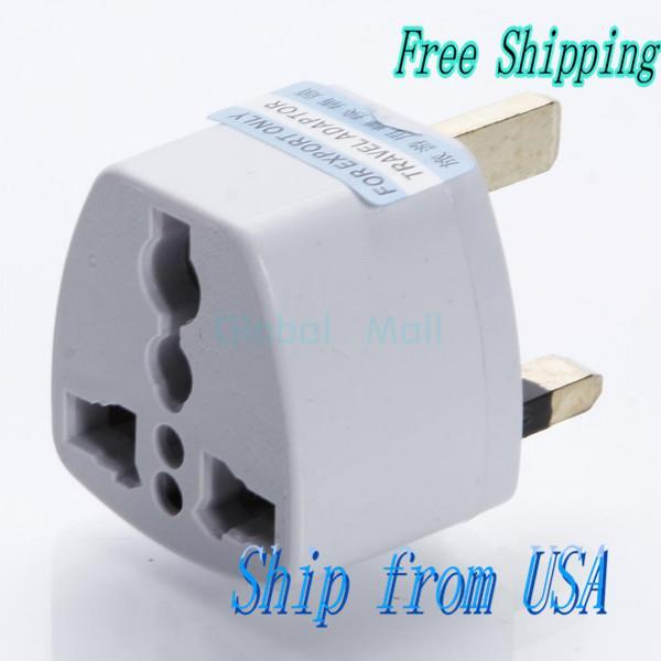 Ship From USA Universal EU US AU to UK AC Travel Power Plug Charger Adapter Converter (13A/250V) R00381WH(China (Mainland))