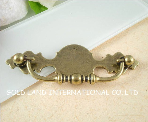96mm Free shipping bronze-colored zinc alloy  furniture cabinet drawer handle<br><br>Aliexpress