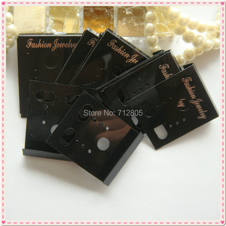 100pcs/lot 3.6x3cm Black Plastic Stud Earrings Display Cards Fashion Jewelry Packaging Display Cards Small Jewellery Cards(China (Mainland))
