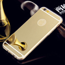 2015 Newly Ultra-thin Luxury Plating Mirror Soft Silicon Frame Cell Phone Case Cover For iPhone 4 4S /5 5S Mobile Phone Bag SJ97(China (Mainland))