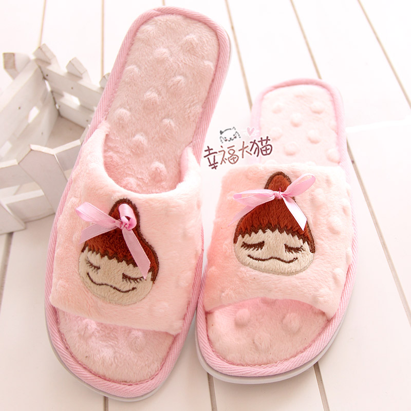 Japanese pear adult cute little girl ball head Thin floor drag mitts slippers at home slipper shoes woman 2013 free shipping<br><br>Aliexpress