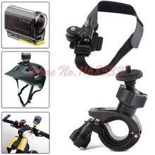 Bike Bicycle Helmet Mount Holder Kit for S@ny Action Cam HDR-AS20 AS30V AS15 AZ1(China (Mainland))