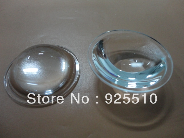 10pcs x 51.5MM fog lens LED lens optical glass lens integrated light source