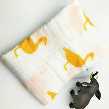 100% 綿モスリンベビー毛布ソフト通気性おくるみ新生児多機能化毛布ベビーラップ寝具おくるみ(China)