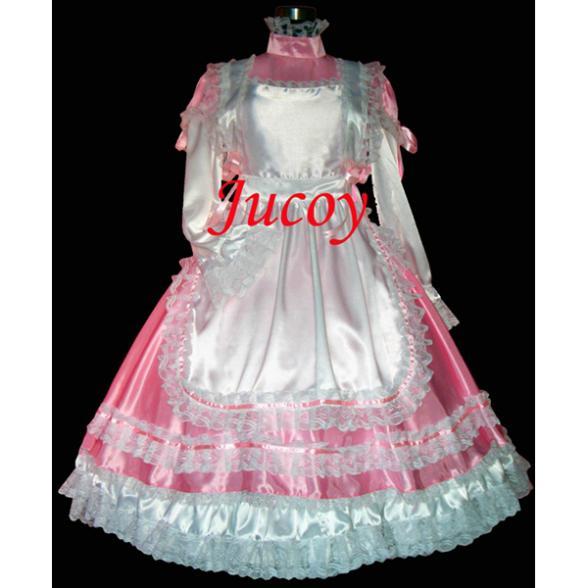 Satin Sissy Lockable Maid Dress