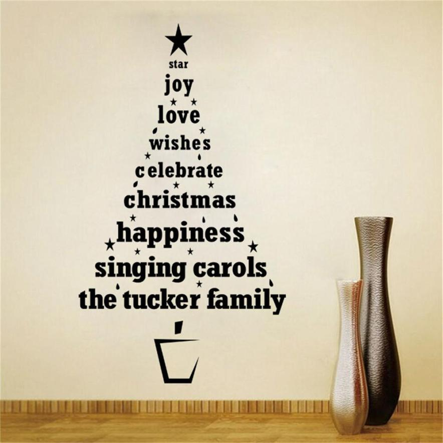 Super Deal Wall Stickers For Merry Christmas Tree Characters Festival Vinyl Home Wall Decor Decals Free Shipping(China (Mainland))