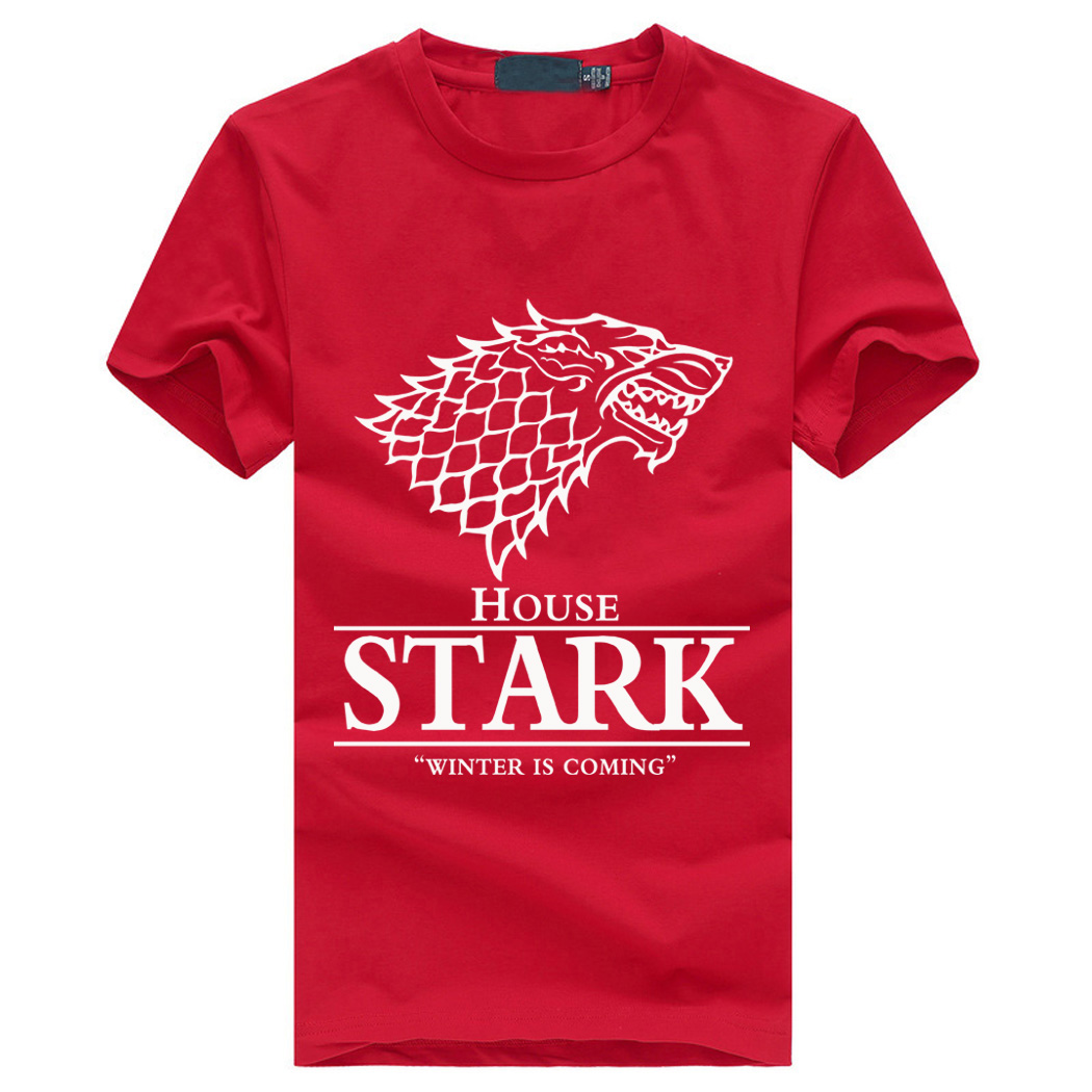 Game of thrones shirts men house stark men 39 s t shirt an for On fire brand t shirts