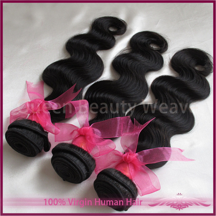 Queen Beauty Weave Hair: virgin queen hair products Brazilian body wave aliexpress hair hot selling 4pcs lot free shipping(China (Mainland))