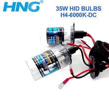 HNG 1Pair Xenon H4 Xenon Bulb Kit Super White 6000K 12V 55W Car light  Free Shipping(China (Mainland))