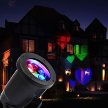 Excelvan Landscape Projector Light,Multi-color Love Heart Moves LED Night Light, Indoor/Outdoor Garden,Wall,Mother's Day Lights(China (Mainland))