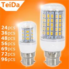 Led Bombillas LED Bulb B22 SMD5730 AC220V 24Leds 36Leds 48Leds 56Leds 69Leds 72Leds 96Leds Lights Corn Lamps Candle Lighting - Jiangmen Top Family Articles Co,.Ltd store