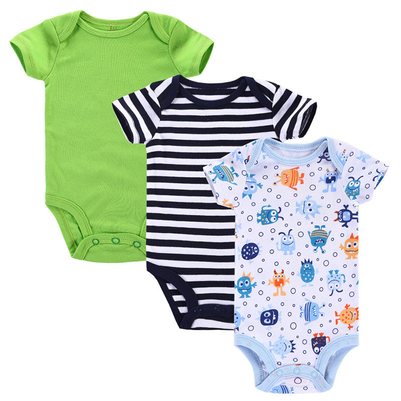 3pcs/lot Carters Romper Baby Girl Boy Romper Newborn 100% Cotton Triangle Baby Clothing