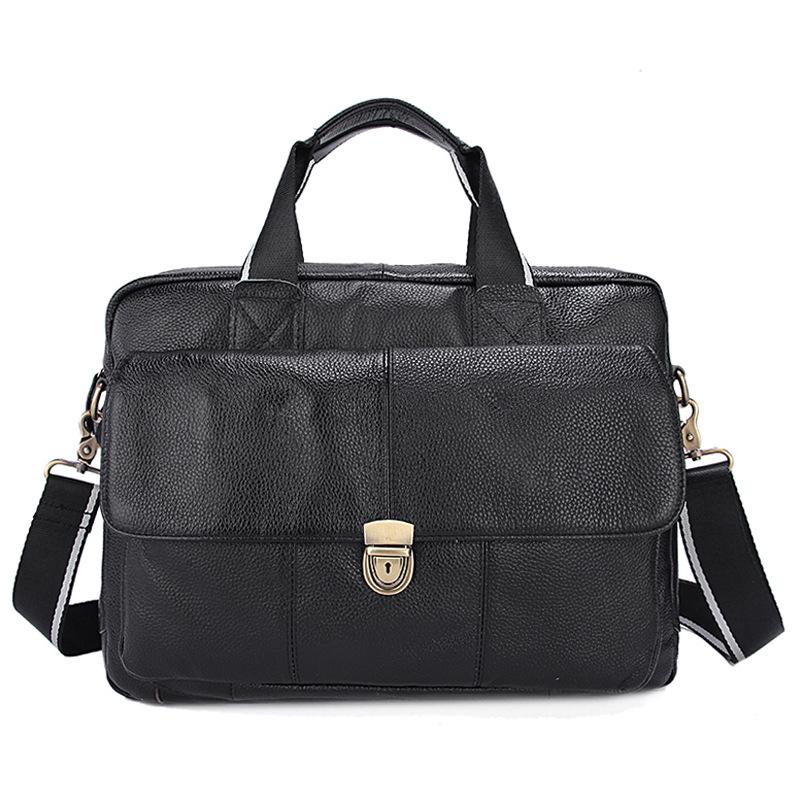 new 2016 Genuine Leather Men Briefcase Man Bags Business Laptop Tote Bag Men's Crossbody Shoulder Bag Men's Travel Bags handbag