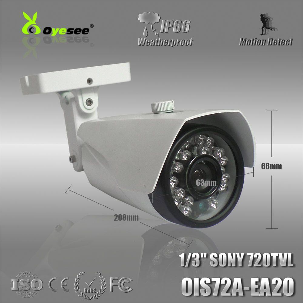 """OIS72A-EA20 Good quality fixed lens 1/3"""" CCD 720TVL IR CUT CCTV Camera waterproof with 20M IR distance online security camera(China (Mainland))"""