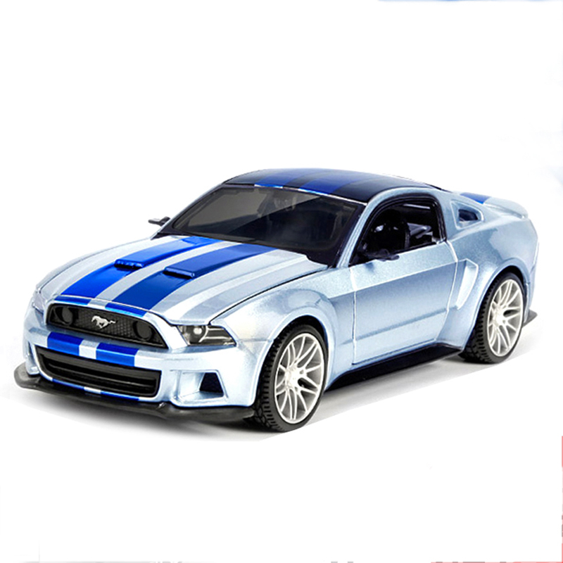 Mustang GT 2014 Silver 1:24 Alloy Model Metal Racing Vehicle Play Collectible Models Sport Cars toys For Gift(China (Mainland))