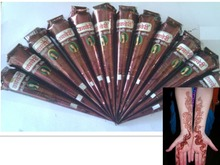 sex products henna tattoo paste for Body Paint original from India Temporary Tattoo Art brown henna cream(China (Mainland))