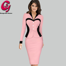 Women Formal Office Work Knitted Dress Womens Pin up Tunic Bodycon Pencil Party Dresses Ladies Long Sleeve Sheath Clothes 2016(China (Mainland))