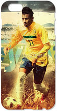 Retail Neymar JR phone Cover For iphone 4 4S 5 5S SE 5C 6 6S Plus For iPod Touch 4 5 6 Back Skin Plastic Hard Cell Mobile Case