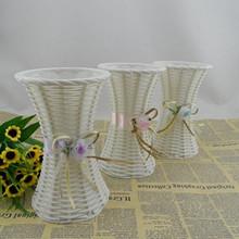 17cmx10.5 Brief Modern Plastic Woven Mordern Flower Vase for Living Room/Wedding Decoration Artificial flowers Vaes(China (Mainland))