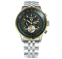 JARAGAR 自動機械式時計の高級腕時計トゥールビヨンゴールドパンク鋼メンズ腕時計(China)