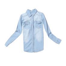2016 Women Blouse Spring Autumn Casual Shirts Long Sleeve Denim Cotton Jeans Shirt X-2XL Free Shipping