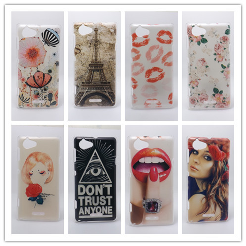 New 2014 Multi species Painting Hard Plastic Phone Case Cover For Sony Xperia L S36H C2105 C2104 + 1 Free Screen Protector(China (Mainland))