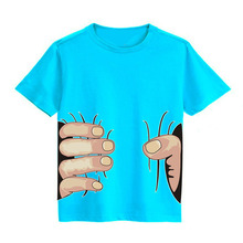 2016 new children's T-shirts for children 3-10 years old summer models Hand T-shirt boys and girls