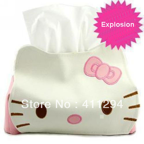 Free Shipping Hello Kitty Creative Cute Leather Tissue