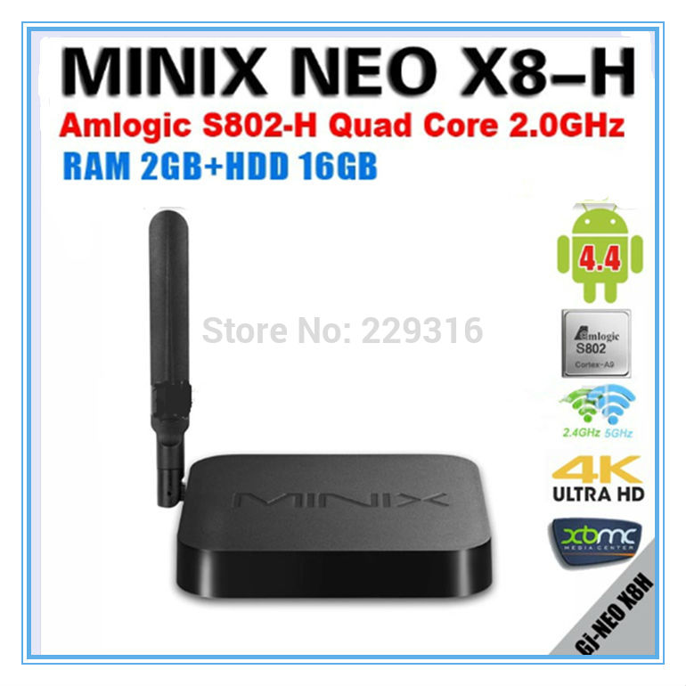 MINIX NEO X8 H X8 H X8H Android TV Box Amlogic S802 H Quad Core 2