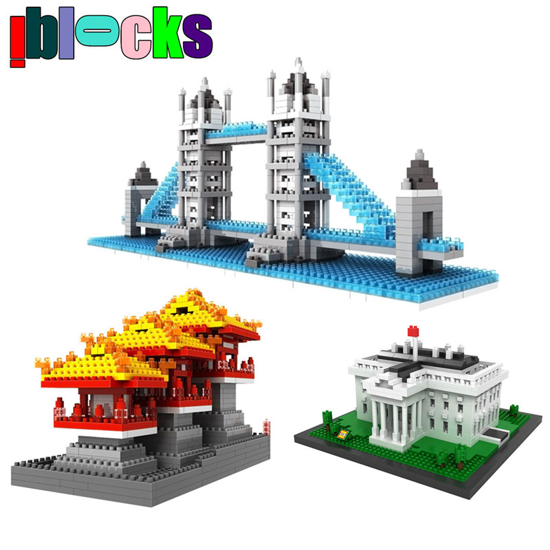 World Architecture Series Tower Bridge Statue Liberty LOZ Diamond Blocks Assemblage Mini Models Building Toys Christmas Gifts - iblocks store