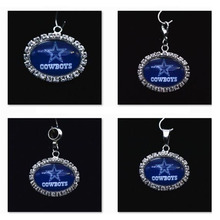Buy Silver Pendant Charms Rhinestone Dallas Cowboys Charms Bracelet Necklace Women Men Football Fans Paty Fashion 2017 for $8.46 in AliExpress store
