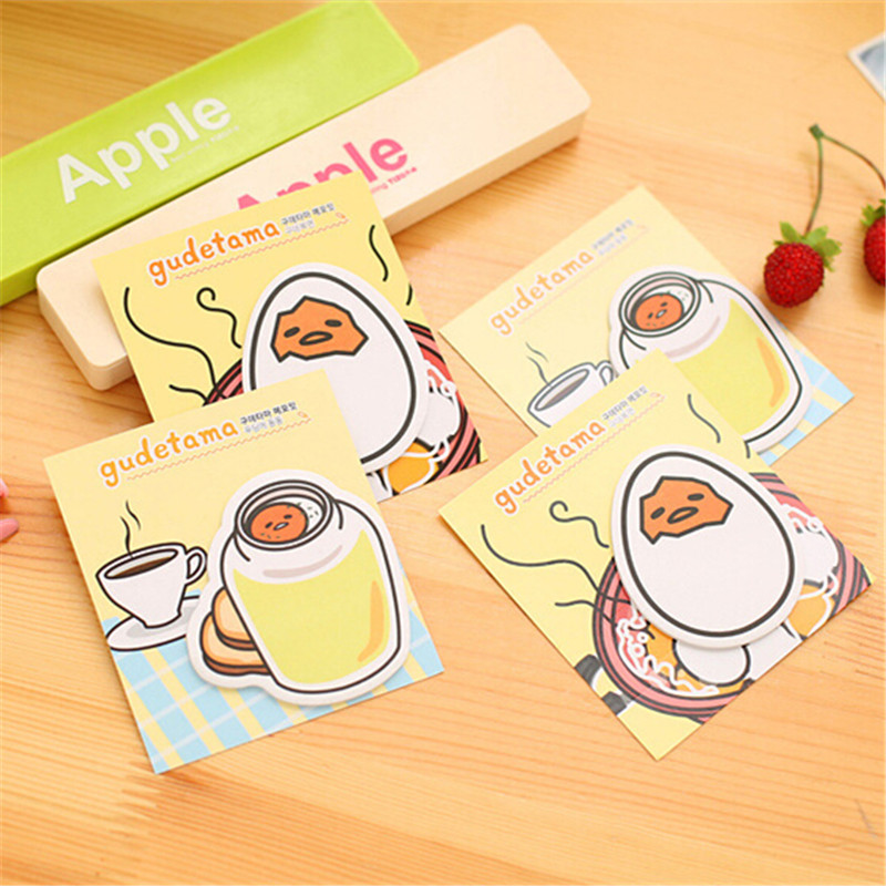 Gudetama sticky notes kawaii egg style post-it memo pads school bookmark stationery office accessories supplier 7.55(China (Mainland))