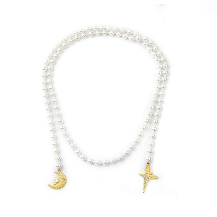 Jewelry Wholesale/2016 Long Simulated Pearl Necklace Stylish Necklace Factory supply free shipping Min $20(can mix)(China (Mainland))